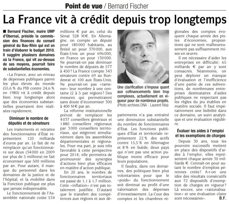 Rappel : interview DNA du 20 novembre 2009…